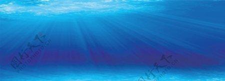 蓝色大海海底梦幻背景素材