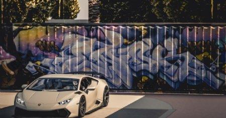 跑车豪车兰博基尼赛车背景素材