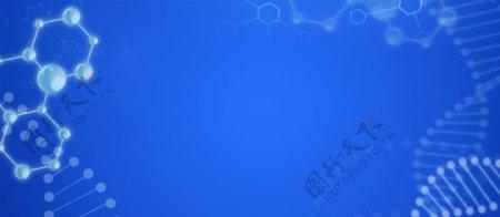 蓝色医疗背景