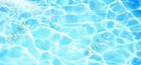 泳池夏季水纹水波蓝色背景素材
