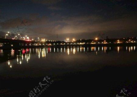 江水夜景摄影