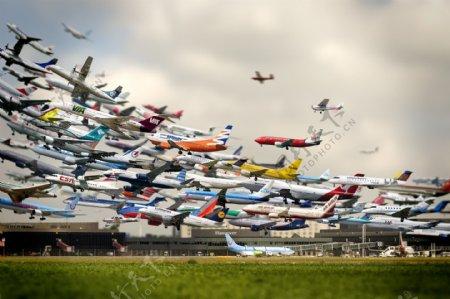 飞机现代科技交通工具