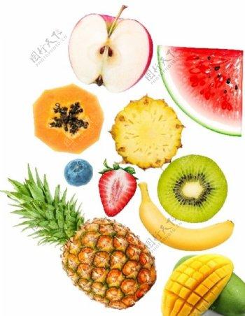 水果素材高清水果魔棒抠图