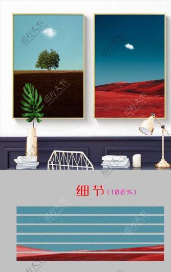 欧式风景简约客厅装饰画