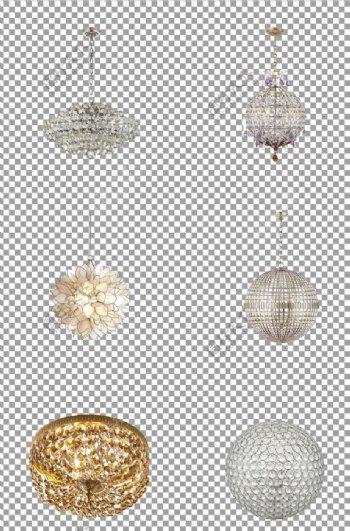 水晶球形吊灯