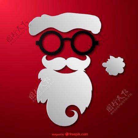 时髦圣诞老人脸