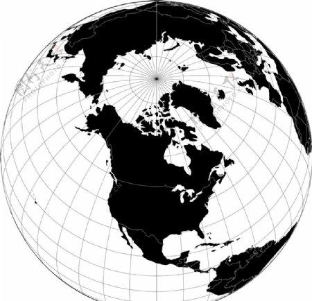 地球仪三维剪影图片