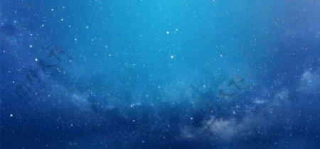 蓝色天空星空梦幻背景素材