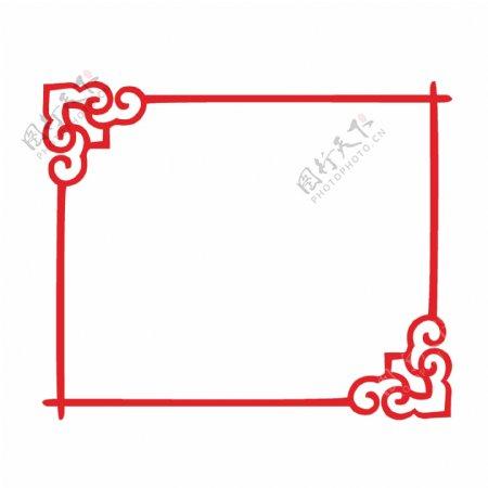 中国风花纹花边边框素材