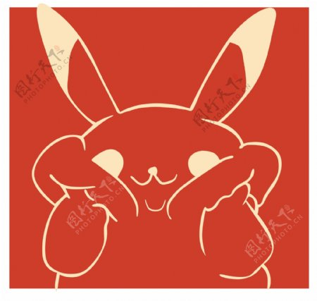 卡通漫画兔子潮牌图案