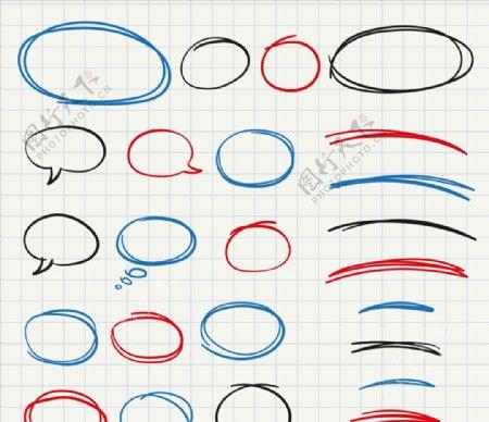 手工绘制框架和气泡