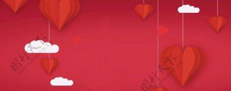 红底红灯笼浪漫红背景