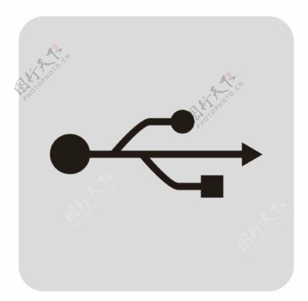 矢量USB接口标志