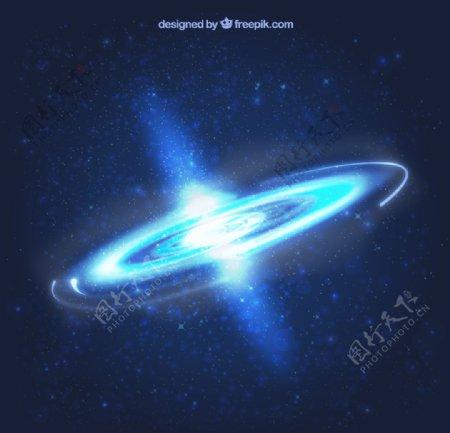 空间背景黑洞