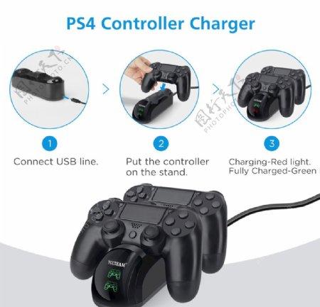 PS4充电座安装步骤图