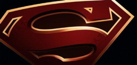 彩色动漫超人标志背景