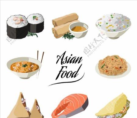 亚洲食品菜单