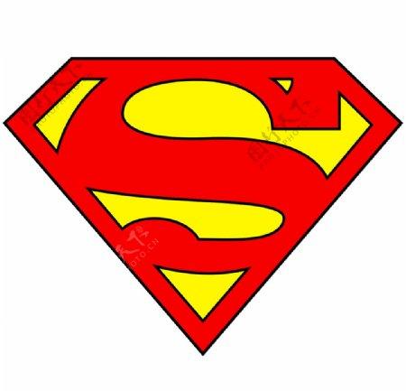 超人图标标志图形背景素材
