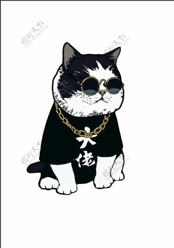 猫卡通霸气