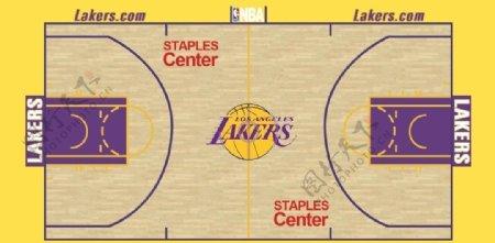 NBA湖人篮球场