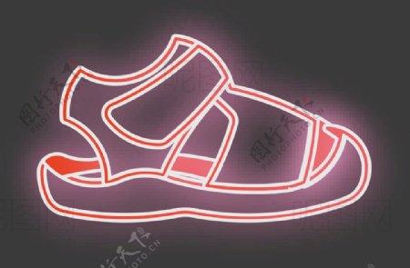 霓虹灯凉鞋