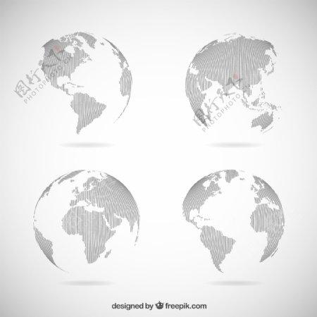 灰色地球地球仪