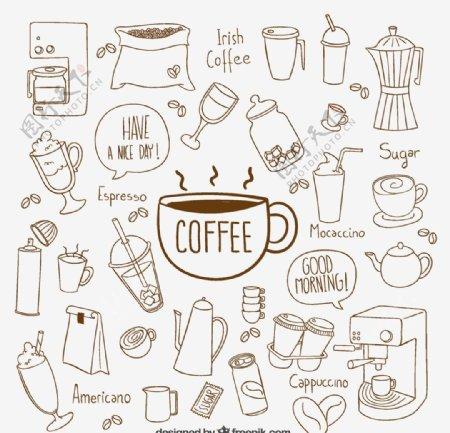 手工绘制咖啡