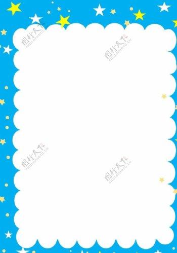 蓝色星空底纹边框背景图片