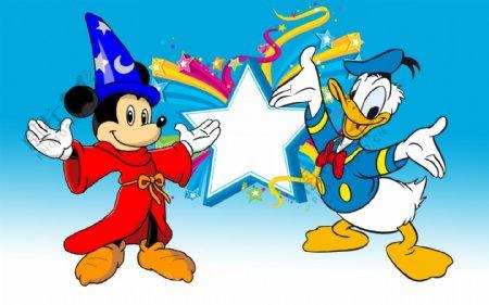 唐老鸭米奇迪士尼卡通图片