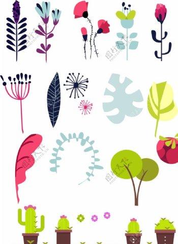 卡通花朵图片