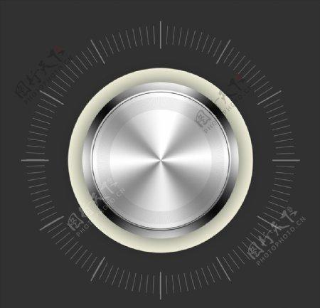 金属质感控制按钮开关设计图片