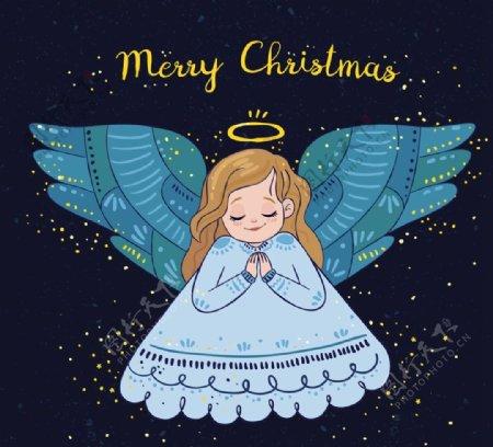 祈祷的圣诞天使图片