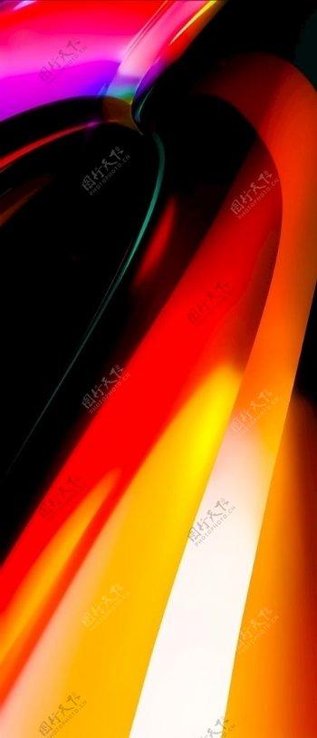 红黄炫酷h5背景图片