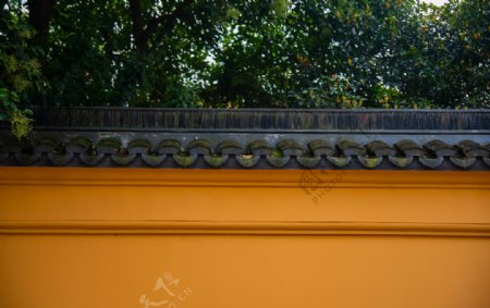 古寺庙围墙图片