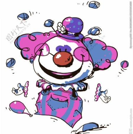 小丑帽子搞怪裁片图片