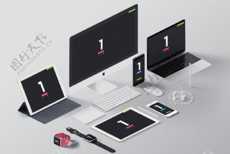 苹果手机电子产品样机PSD源文图片