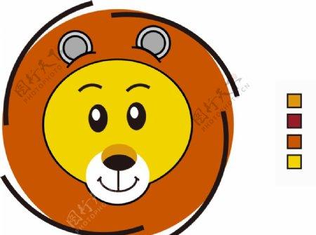 卡通狮子logo绘制ai格式图片