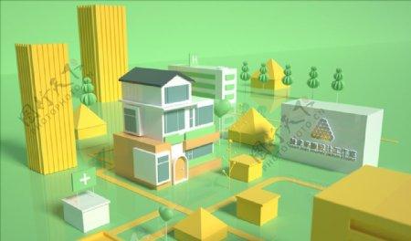 C4D建筑模型图片