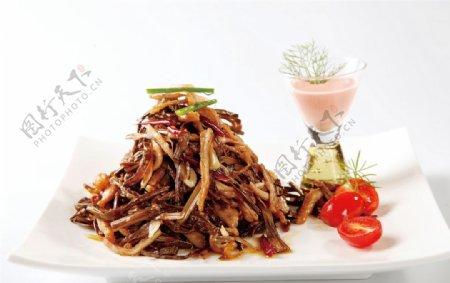 竹笋炒肥肠图片