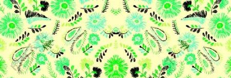 手绘花卉线条花卉图片