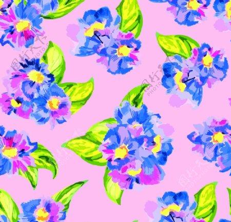 彩色水彩花卉图片