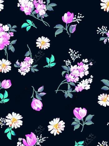 手绘花卉背景图片