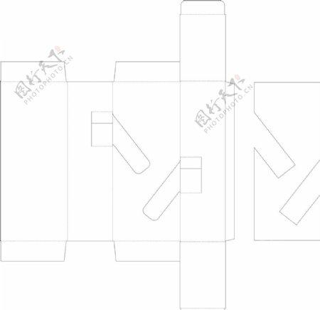 包装设计盒子刀模陈列图片