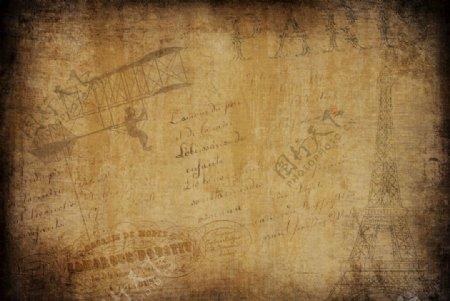 老旧牛皮纸背景图片