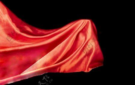 免扣红绸布图片