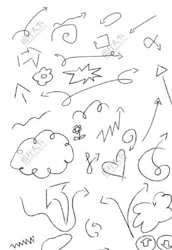 卡通手绘箭头图片