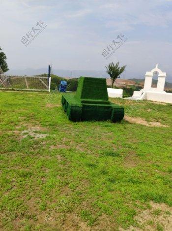 青田景区绿色小坦克图片