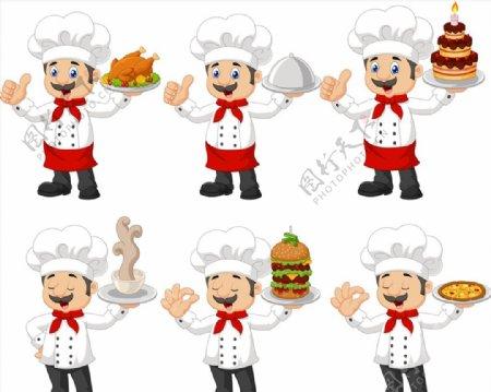 卡通搞笑厨师图片