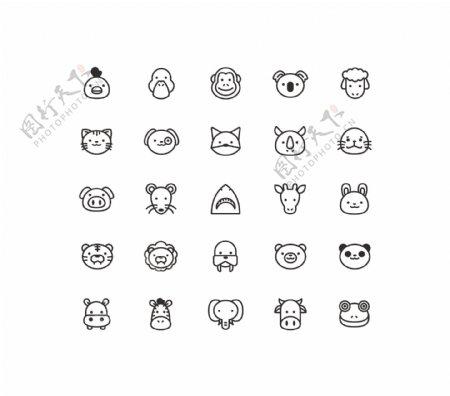 各种小动物网页UI图标图片
