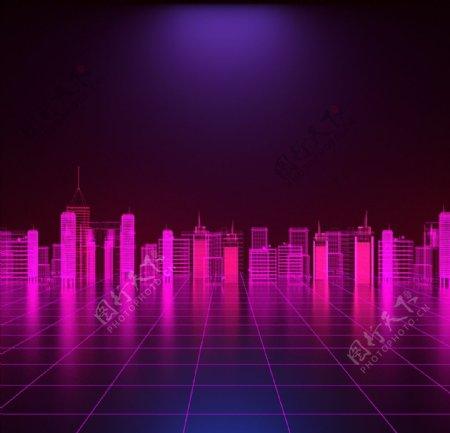 大气城市建筑高楼高清背景图片